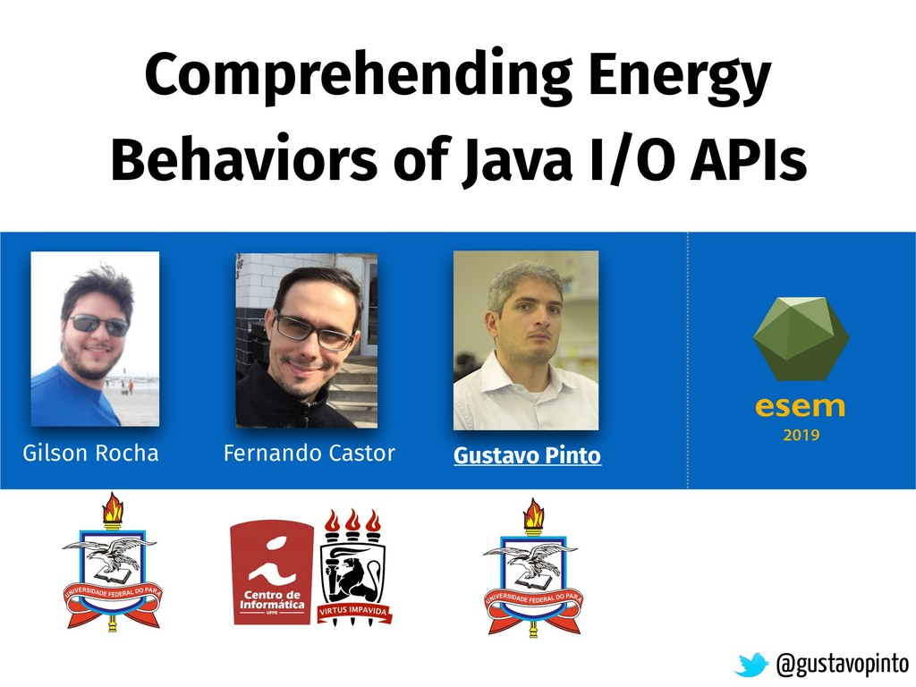 Comprehending Energy Behaviors of Java I/O APIs...