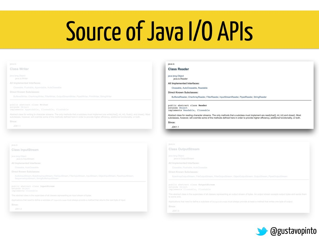 Source of Java I/O APIs @gustavopinto