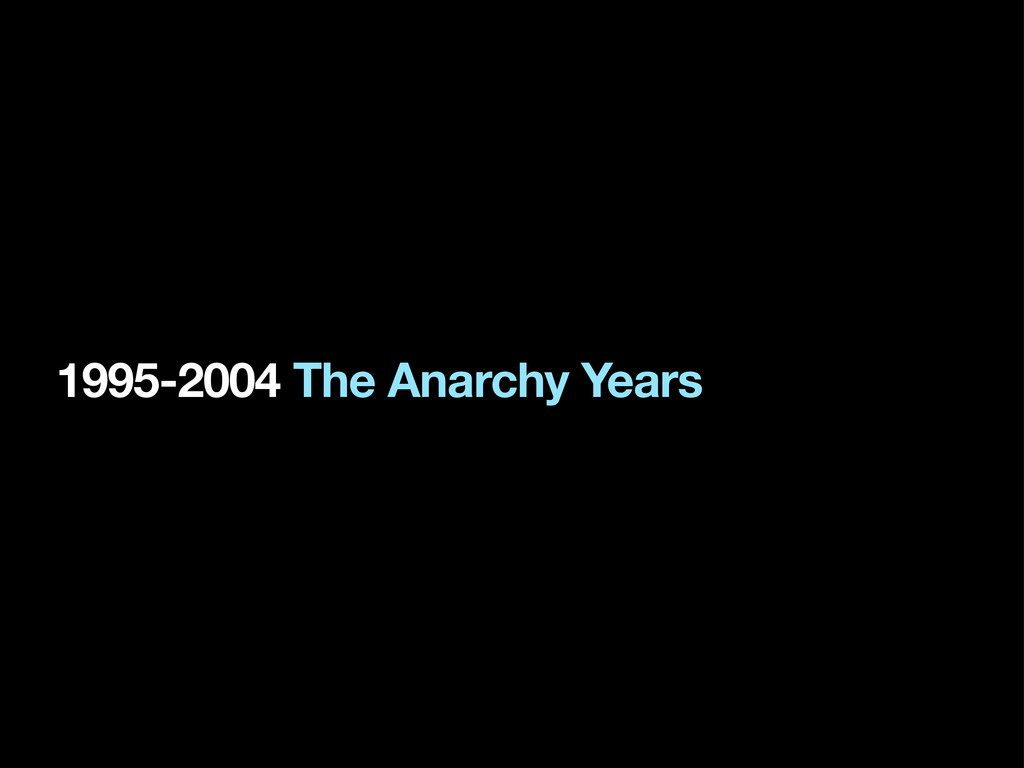 1995-2004 The Anarchy Years