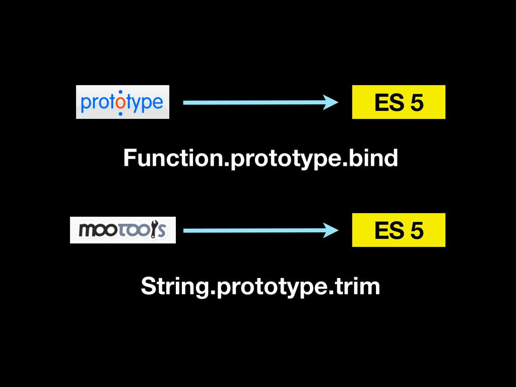 ES 5 Function.prototype.bind ES 5 String.protot...