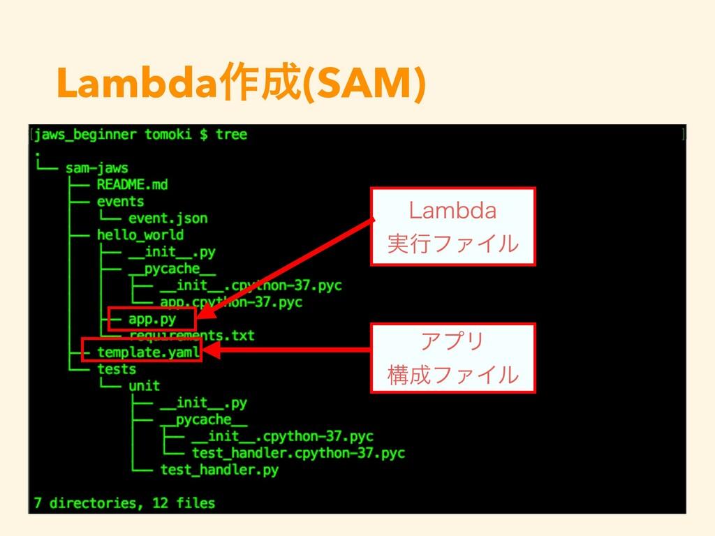 Lambda࡞(SAM) -BNCEB ࣮ߦϑΝΠϧ ΞϓϦ ߏϑΝΠϧ