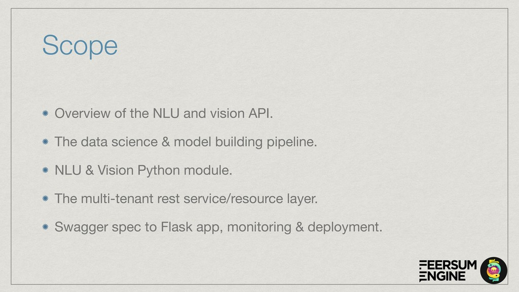 Scope Overview of the NLU and vision API.  The ...