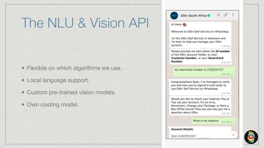 The NLU & Vision API Flexible on which algorith...