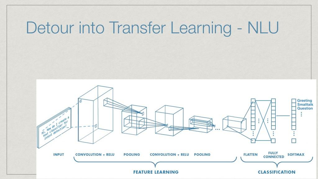 Detour into Transfer Learning - NLU