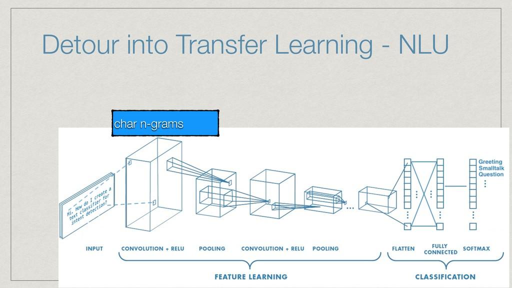 char n-grams Detour into Transfer Learning - NLU