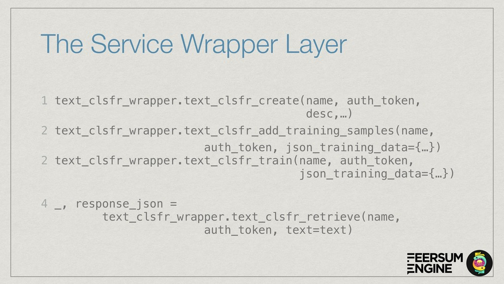 The Service Wrapper Layer 1 text_clsfr_wrapper....