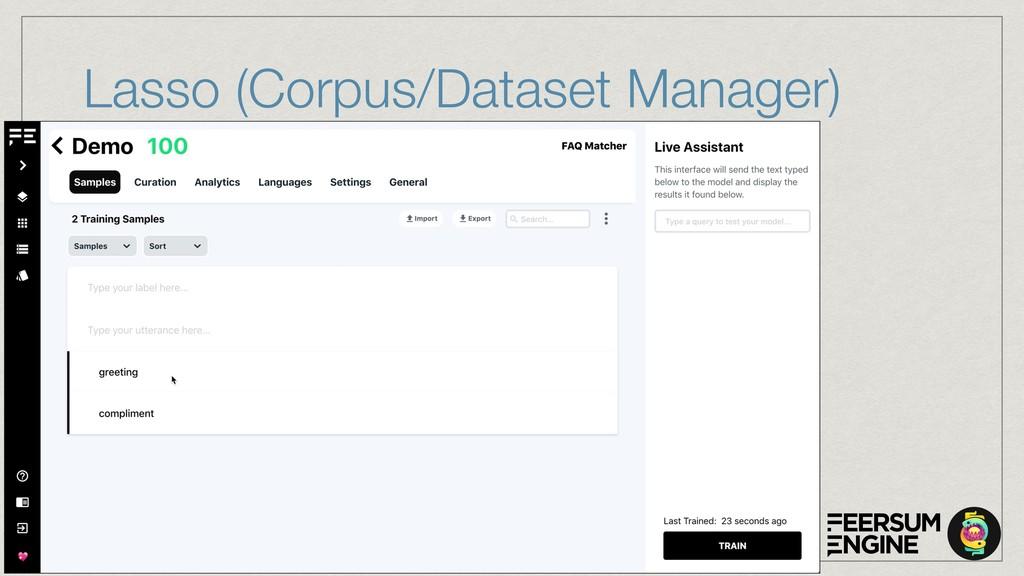 Lasso (Corpus/Dataset Manager)