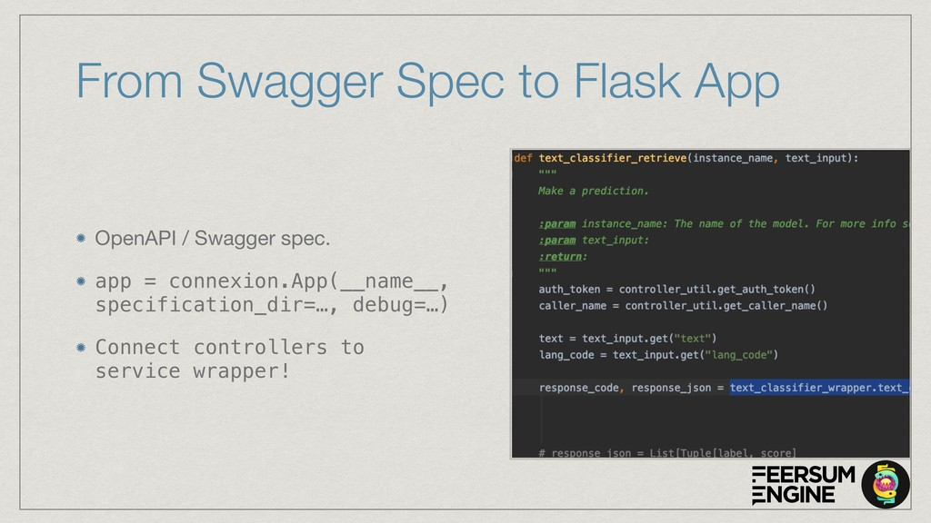 From Swagger Spec to Flask App OpenAPI / Swagge...