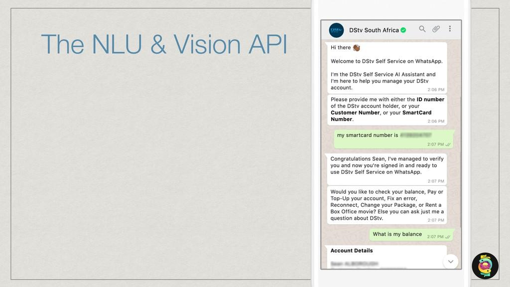 The NLU & Vision API