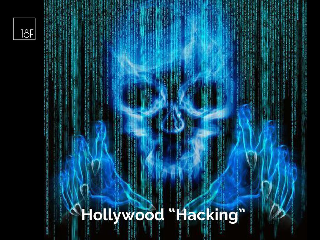 "Hollywood ""Hacking"""
