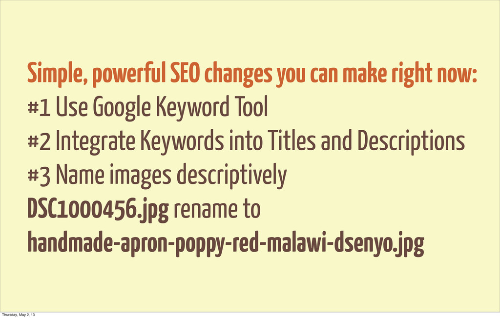 Simple, powerful SEO changes you can make right...
