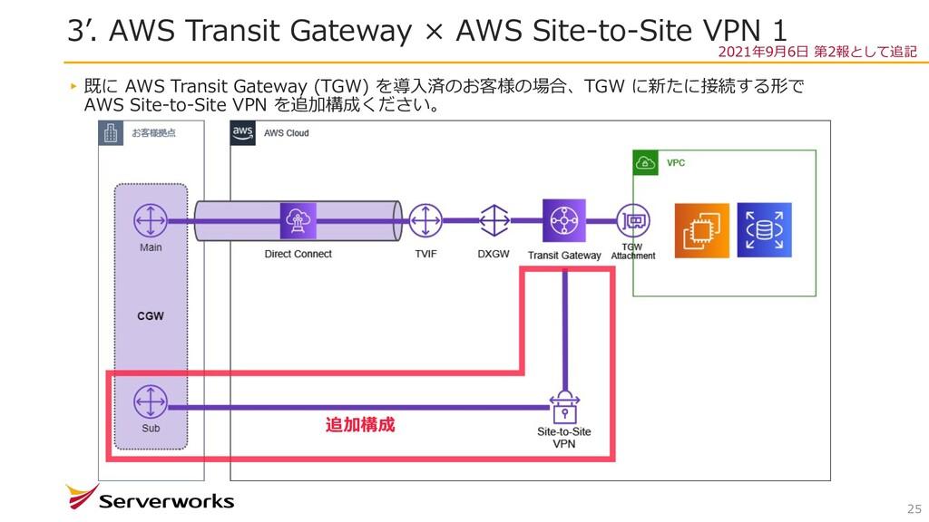 3'. AWS Transit Gateway × AWS Site-to-Site VPN ...
