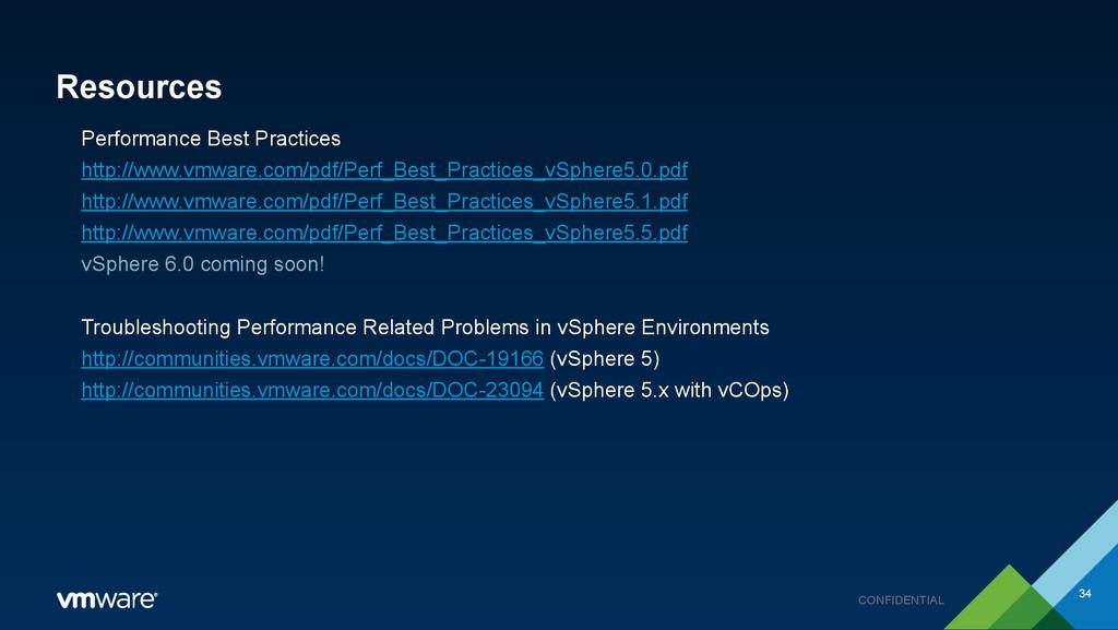 CONFIDENTIAL Resources Performance Best Practic...