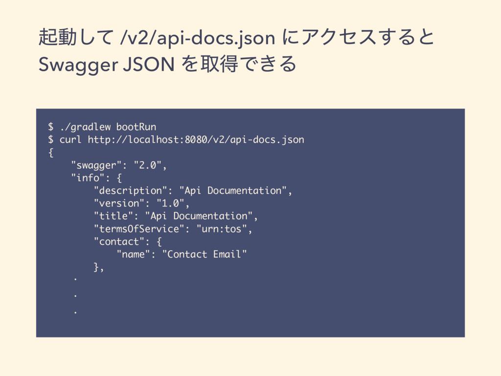 ىಈͯ͠ /v2/api-docs.json ʹΞΫηε͢Δͱ Swagger JSON Λऔ...