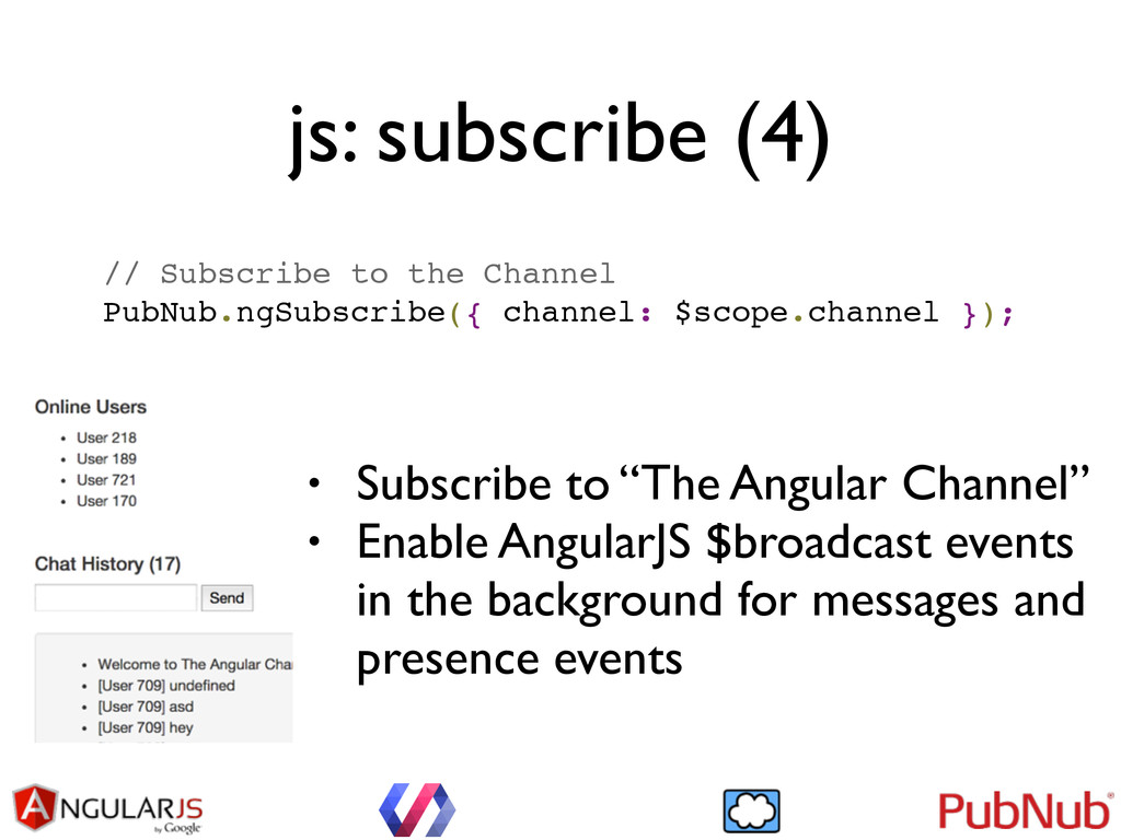 js: subscribe (4) // Subscribe to the Channel! ...