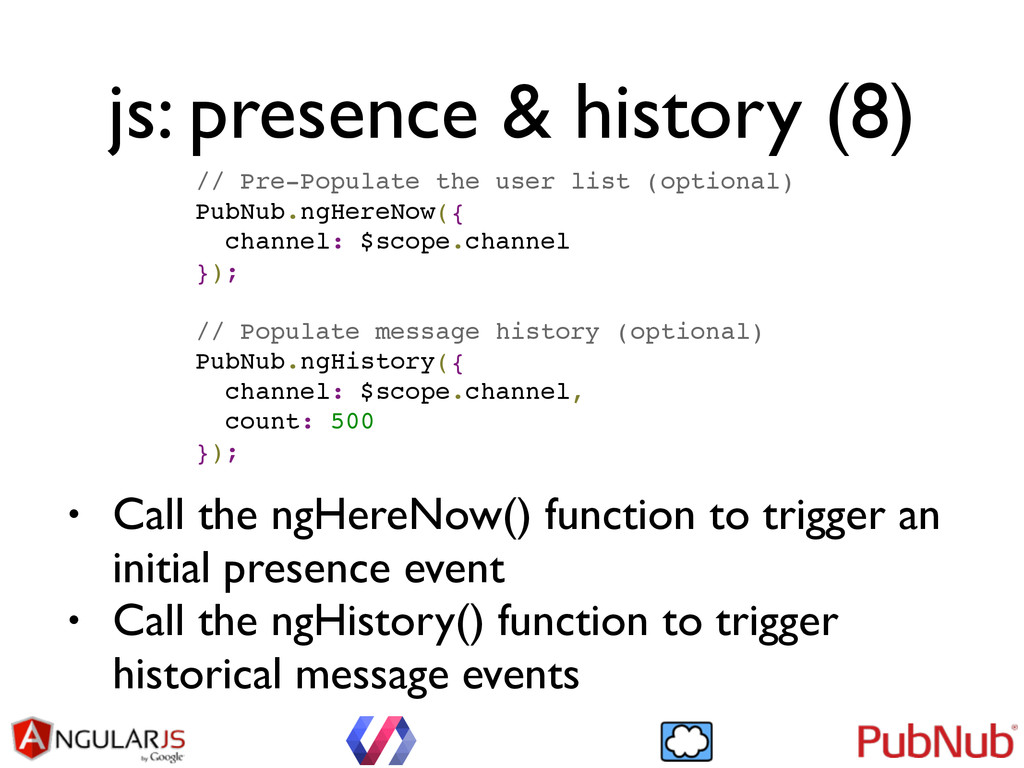 js: presence & history (8) // Pre-Populate the ...
