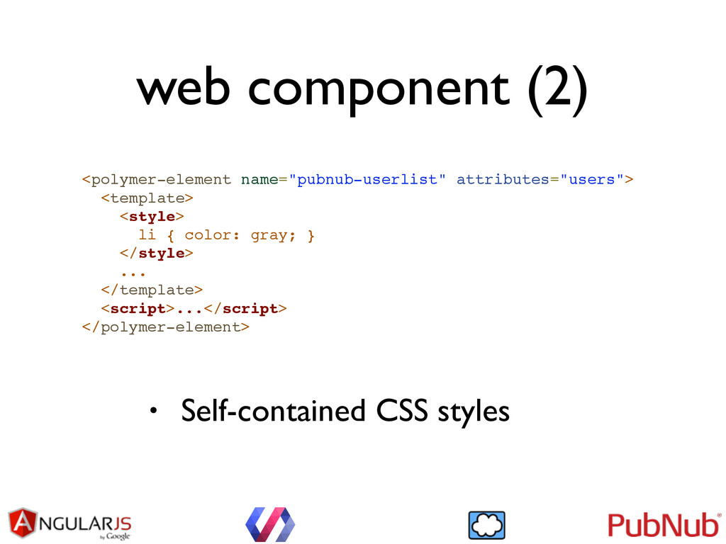 "web component (2) <polymer-element name=""pubnub..."