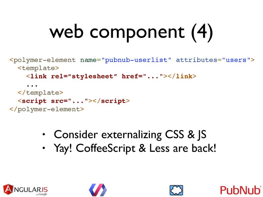 "web component (4) <polymer-element name=""pubnub..."