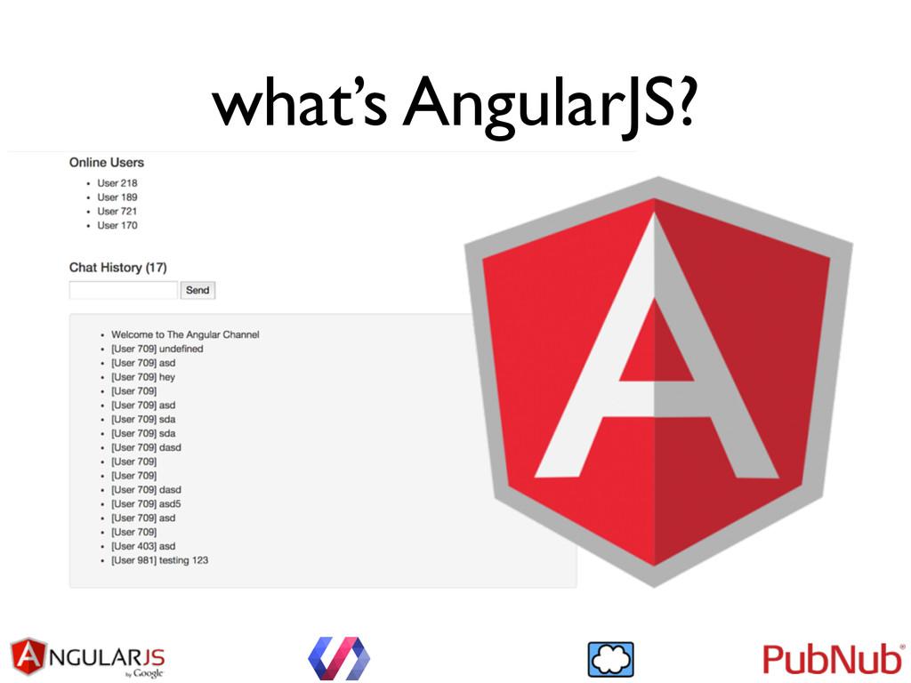 what's AngularJS?