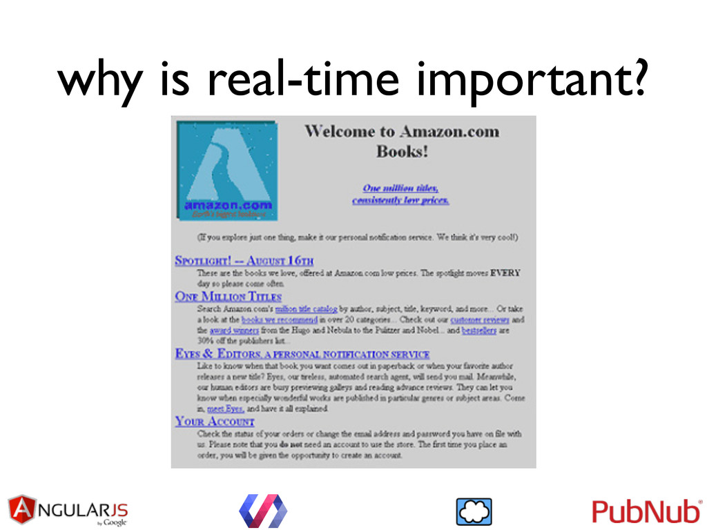 why is real-time important?