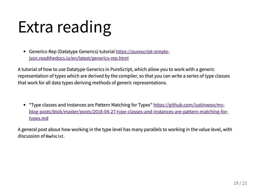 Extrareading Generics-Rep(DatatypeGenerics)...