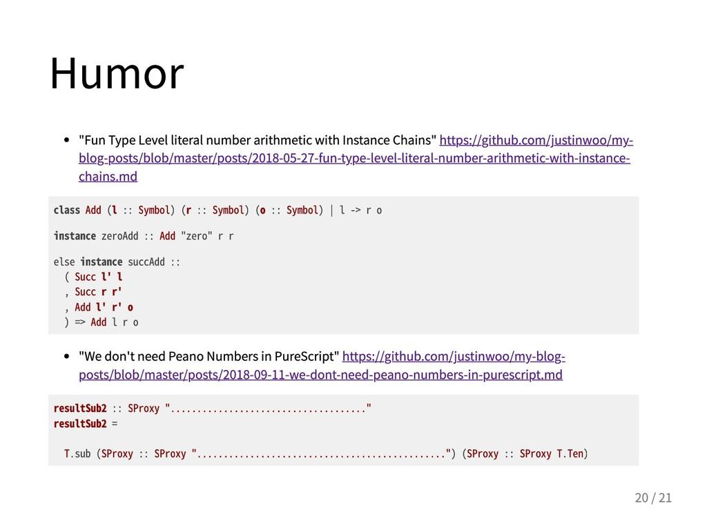 """Humor """"FunTypeLevelliteralnumberarithmetic..."""