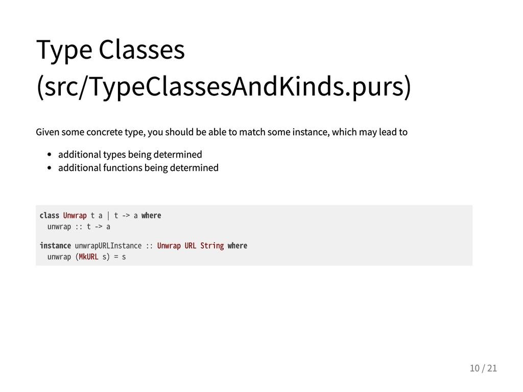 TypeClasses (src/TypeClassesAndKinds.purs) Giv...
