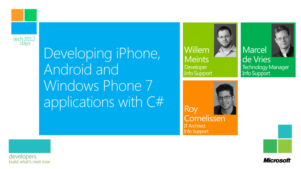 Developing iPhone, Android and Windows Phone 7 ...