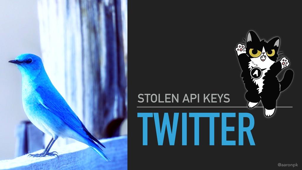 @aaronpk TWITTER STOLEN API KEYS