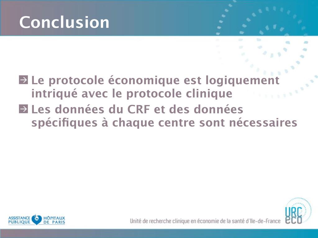 Conclusion Le protocole économique est logiquem...