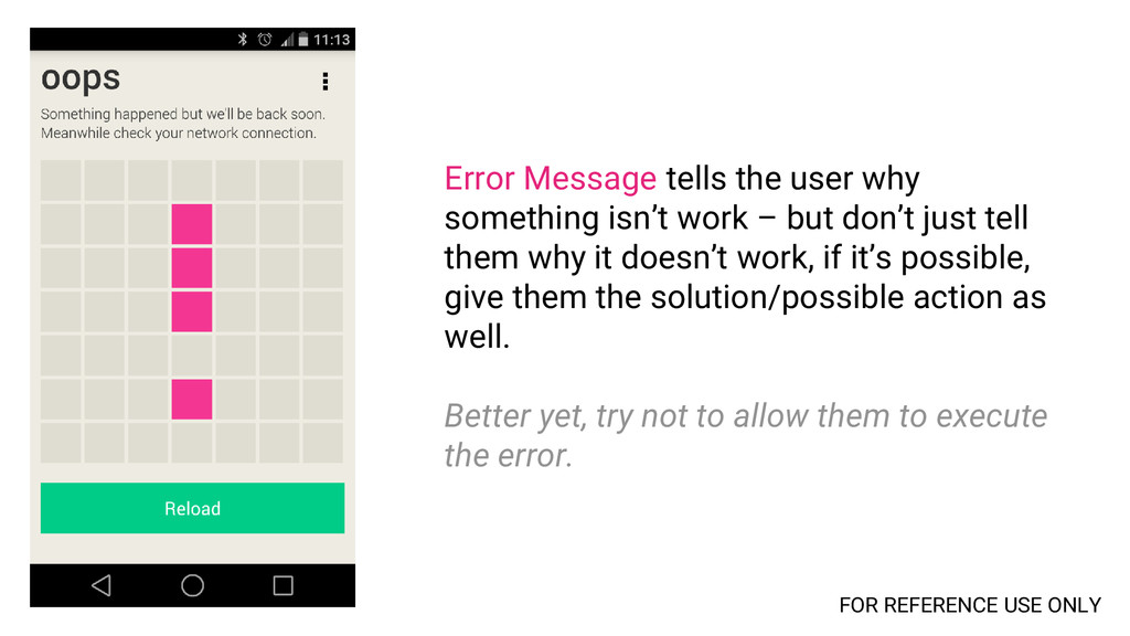 Error Message tells the user why something isn'...