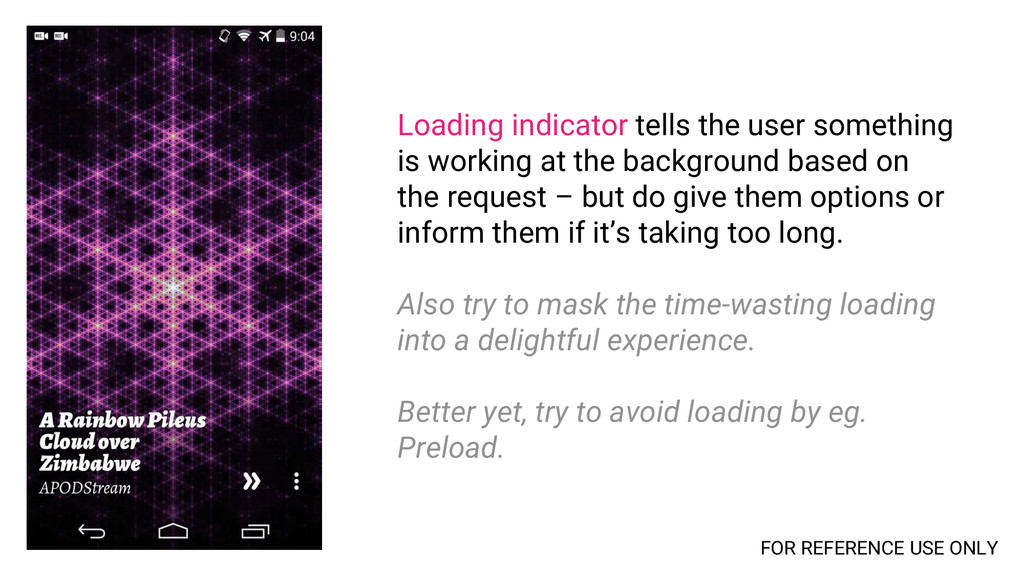 Loading indicator tells the user something is w...