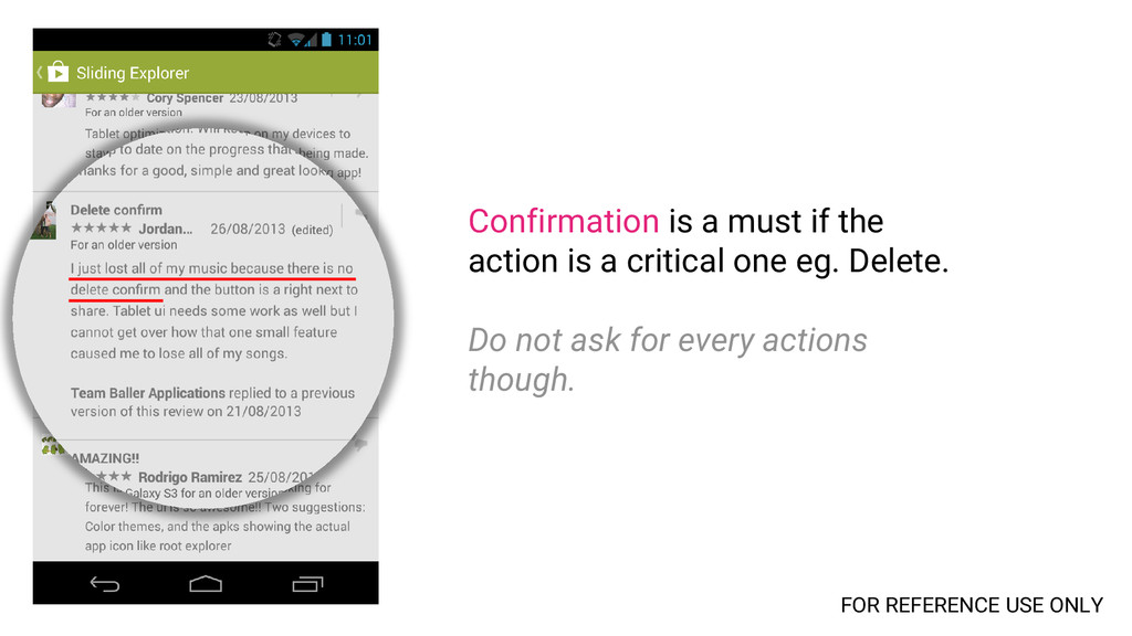 Confirmation is a must if the action is a criti...