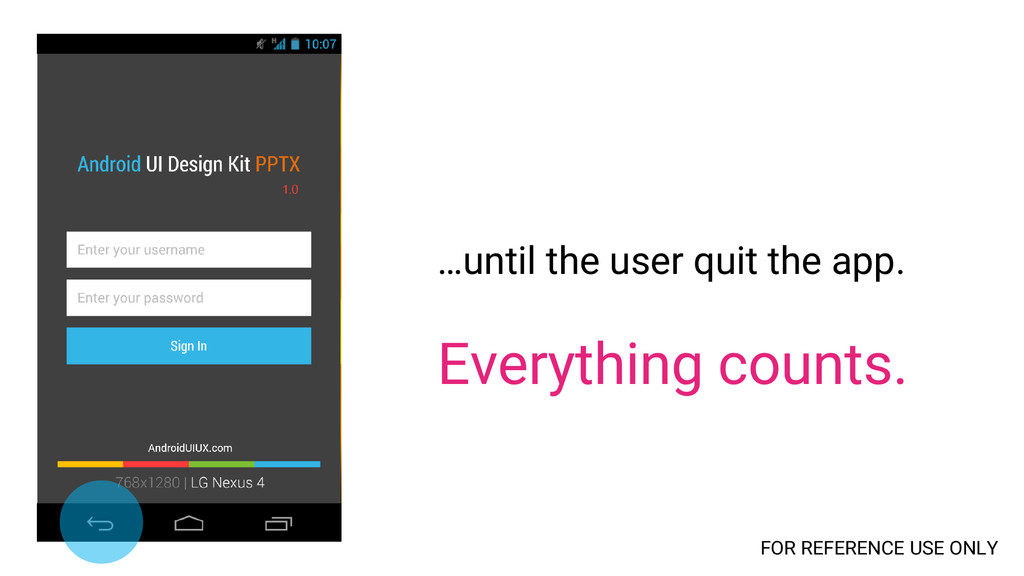 …until the user quit the app. Everything counts...