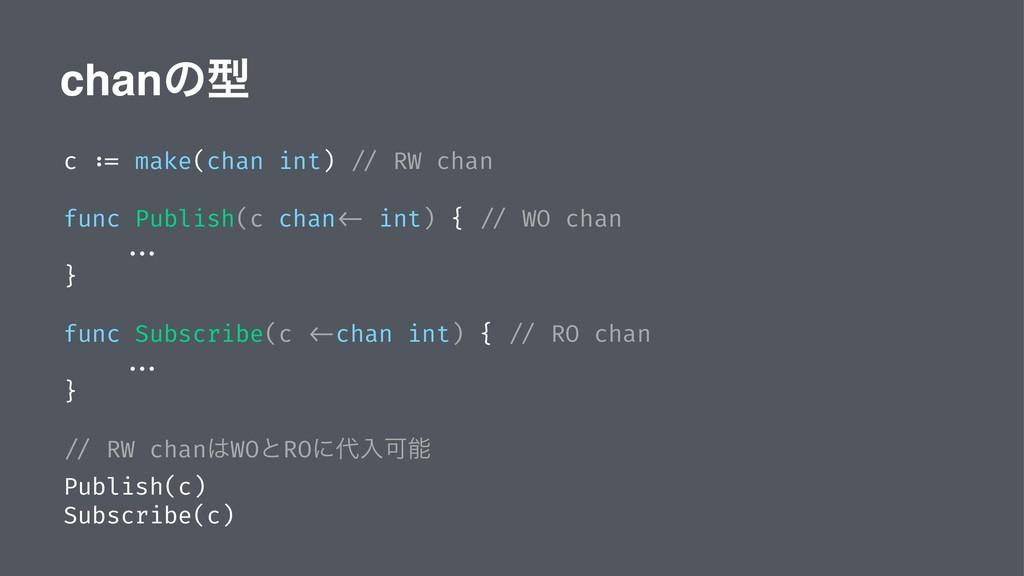 chanͷܕ c := make(chan int) // RW chan func Publ...