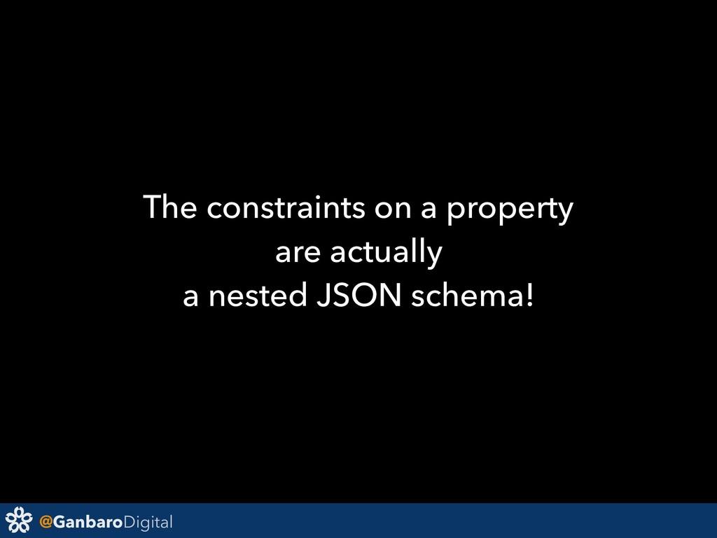 @GanbaroDigital The constraints on a property a...