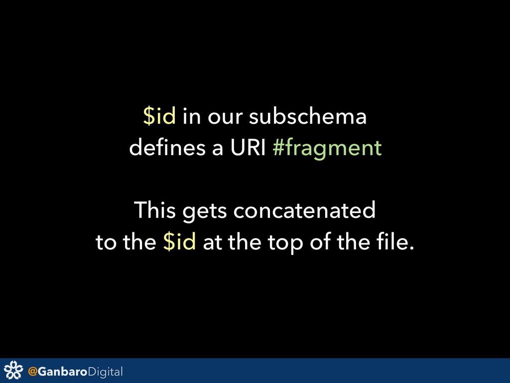 @GanbaroDigital $id in our subschema defines a U...