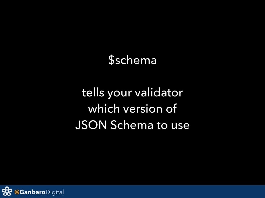@GanbaroDigital $schema tells your validator wh...