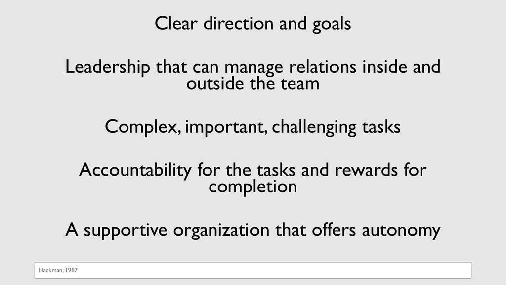 Clear direction and goals Leadership that can m...