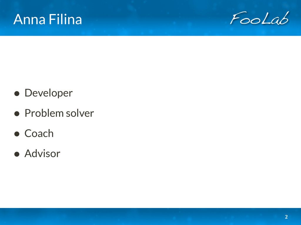 Anna Filina • Developer • Problem solver • Coac...