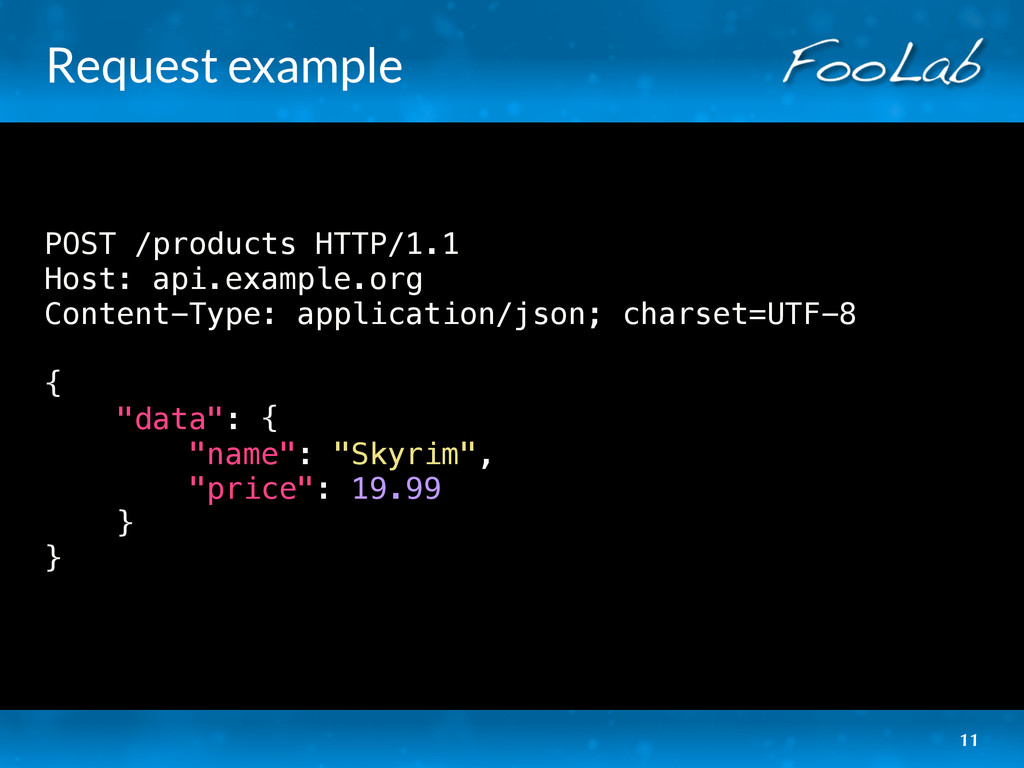 Request example POST /products HTTP/1.1 Host: a...