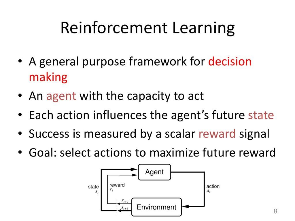 Reinforcement Learning • A general purpose fram...