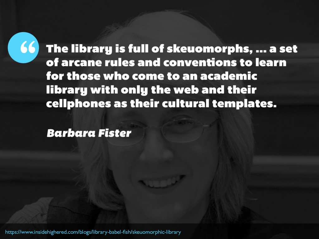 The library is full of skeuomorphs, ... a set o...