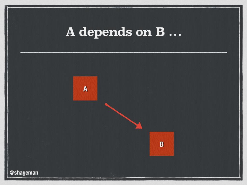 A depends on B … A B @shageman