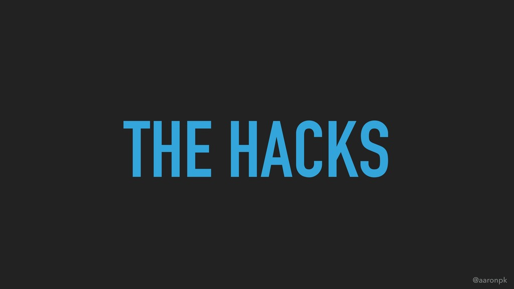 @aaronpk THE HACKS