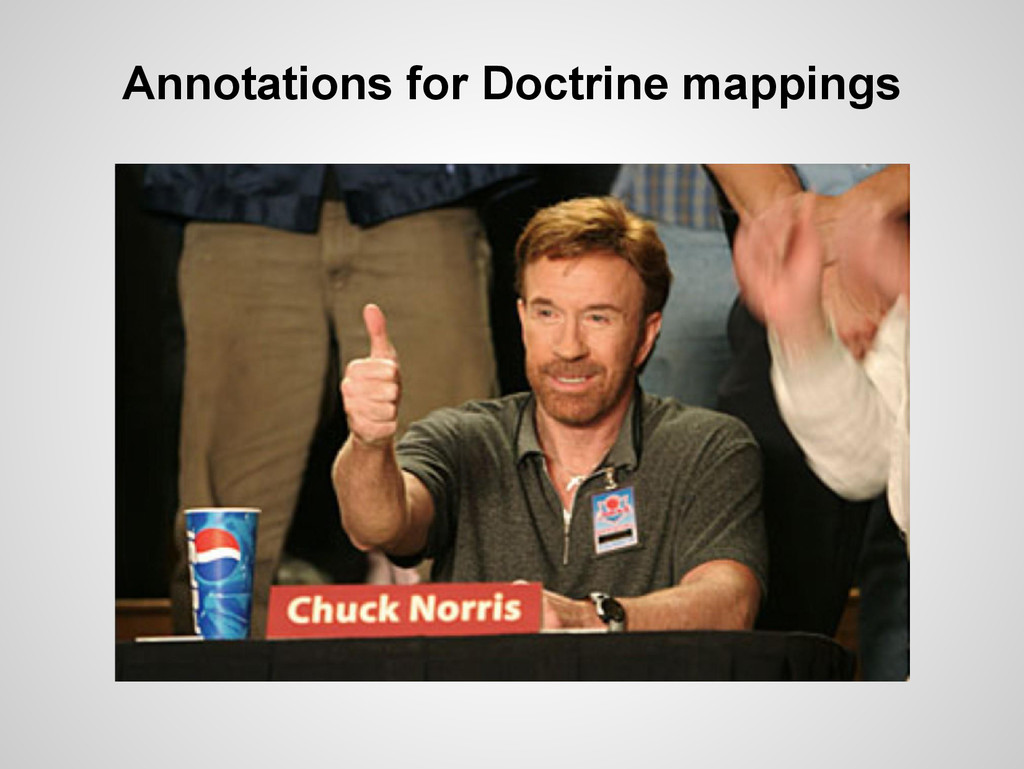 Annotations for Doctrine mappings