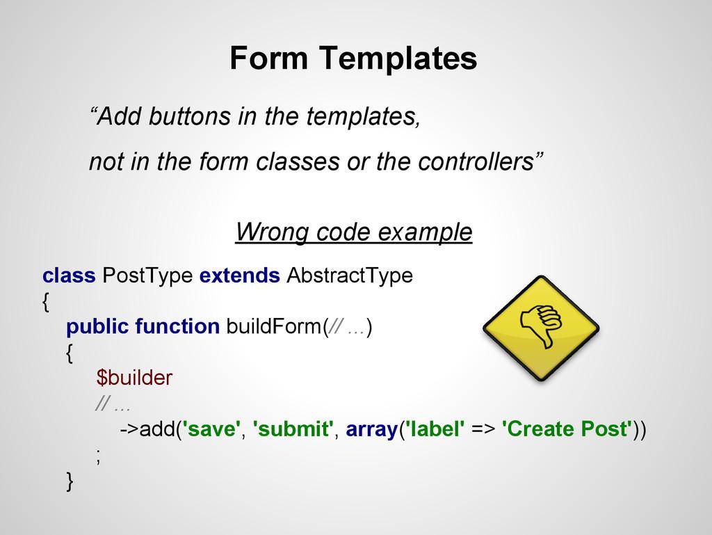 class PostType extends AbstractType { public fu...