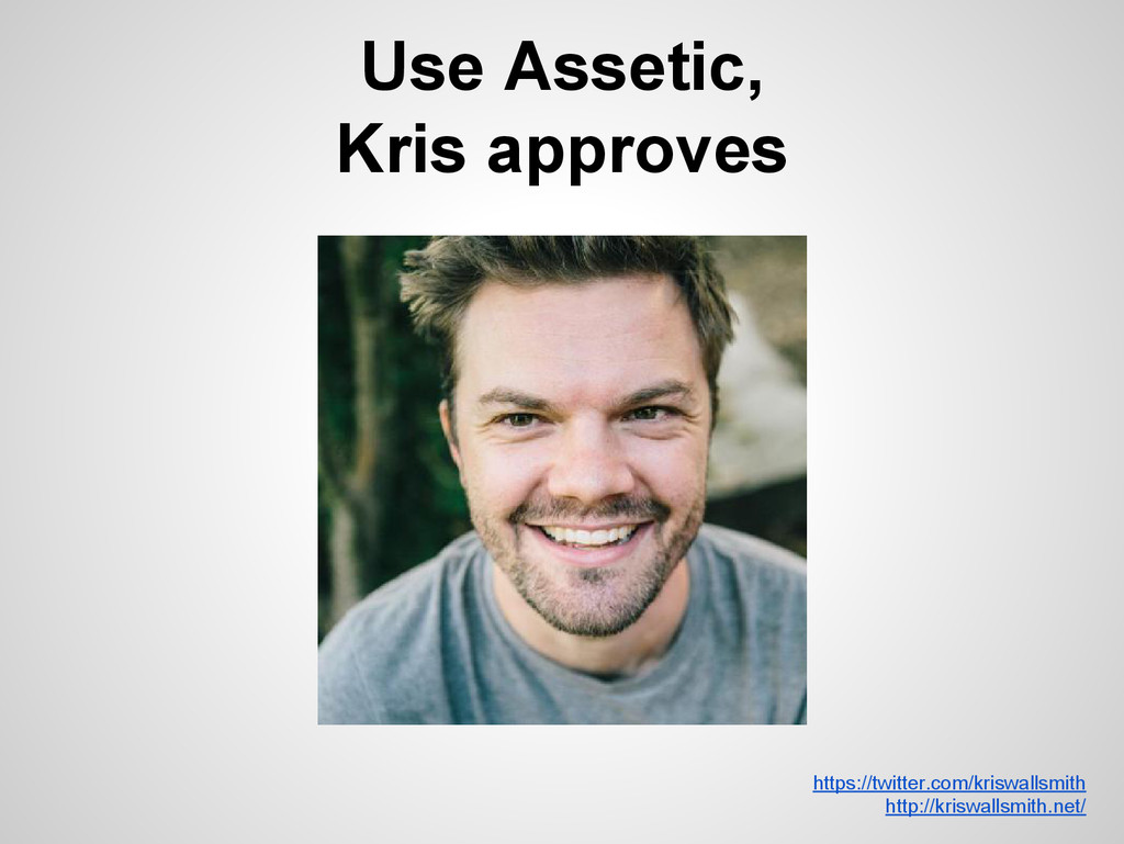 Use Assetic, Kris approves https://twitter.com/...