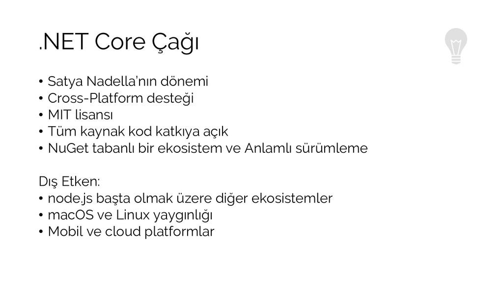 .NET Core Çağı • Satya Nadella'nın dönemi • Cro...