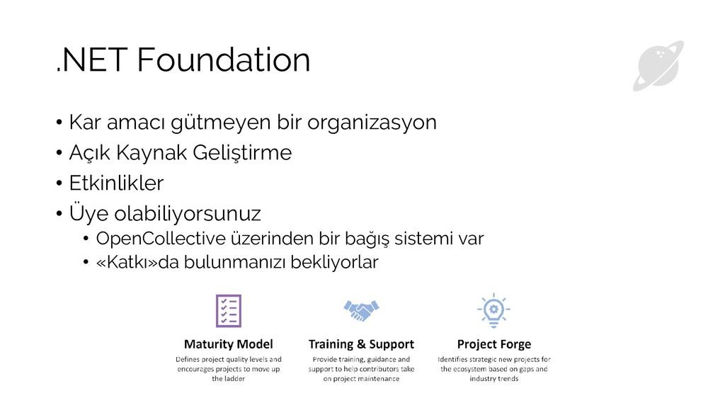 .NET Foundation • Kar amacı gütmeyen bir organi...